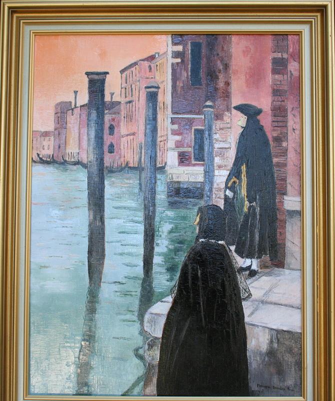 Monique DEVALOIS - Peinture - Les Masques (Venise)