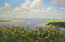 """Petr SABADYSH - Painting - """"Sunflowers"""""""