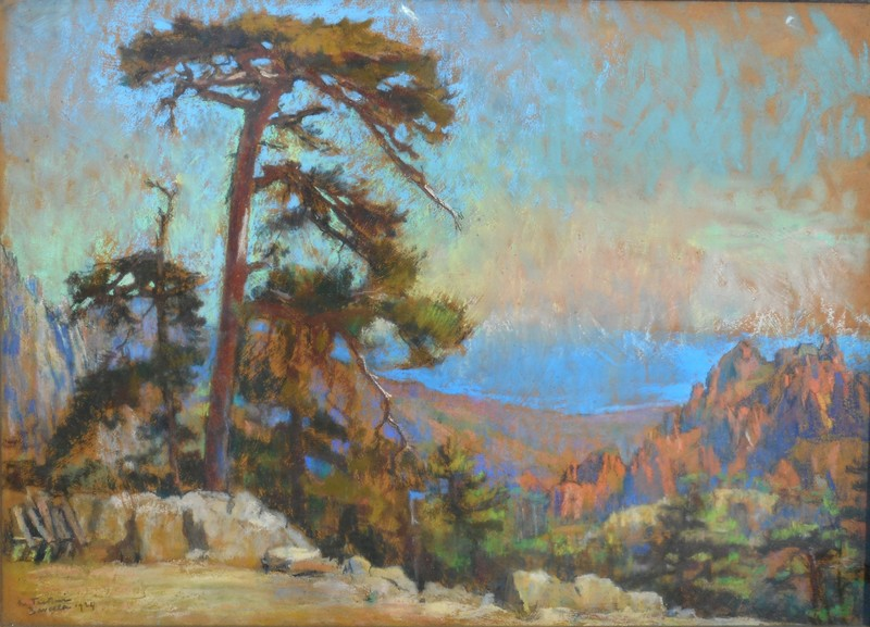 Marthe PASTEUR - Drawing-Watercolor - BAVELLA - CORSE - les falaises