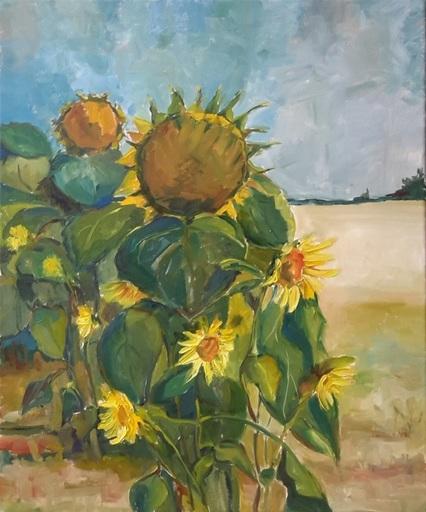 Ewa WITKOWSKA - Pittura - Sunflowers