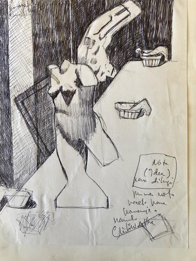 """Cristino DE VERA REYES - Drawing-Watercolor - Homenaje a Manolo Hugue"""""""