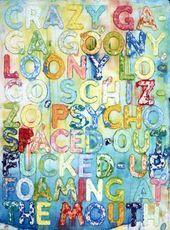 Mel BOCHNER - Painting - Crazy