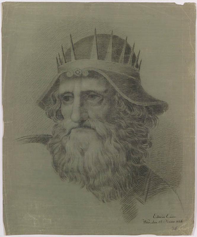 "Eduard ENDER - Disegno Acquarello - ""Academical Study"", 1836"