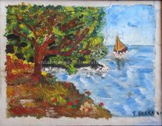"""Ginés PARRA - Painting - """"Paysage marin"""" Paysage côtier"""