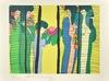 TING Walasse - Print-Multiple - Geishas au bouquet