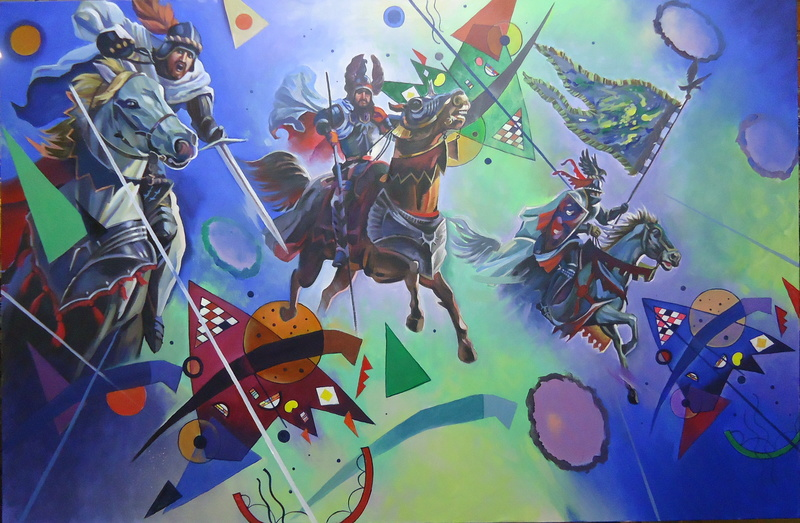 Alexander SAVKO - Pintura - WAR FOR THE UNDEFINED: Attack