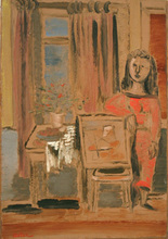 Jankel ADLER - Painting - Woman in Interior
