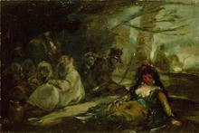Francisco José DE GOYA Y LUCIENTES - Painting - Escena de la Guerra de Independencia