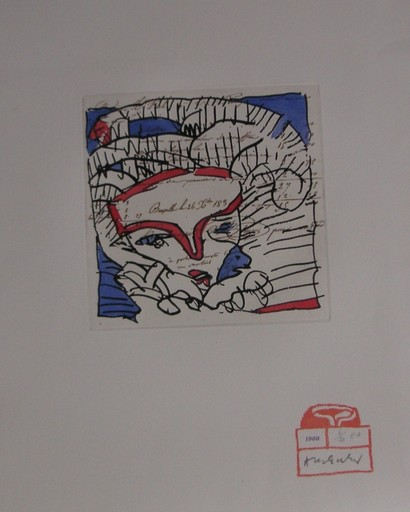Pierre ALECHINSKY - Druckgrafik-Multiple - CHAQUE  MATIN  IONESCO  &  ALECHINSKY 1987