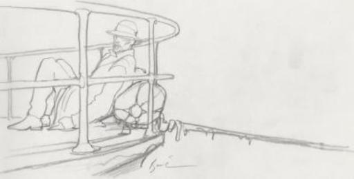 Enki BILAL - Drawing-Watercolor - Original drawing on tracing paper