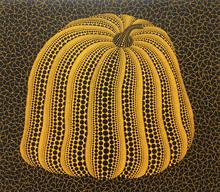 草間彌生 - 版画 - Yellow Colored Pumpkin
