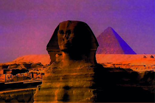 Sigrun NEUMANN - Stampa Multiplo - Sphinx in the evening light