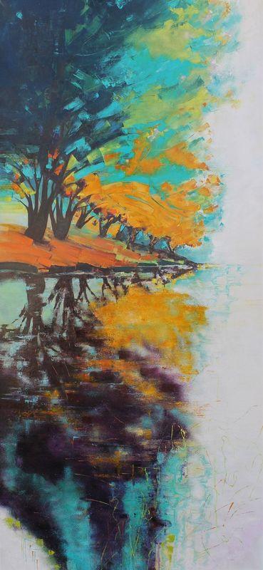 Nadine PILLON - Painting - LE RAMEUR