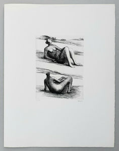 Henry MOORE - Druckgrafik-Multiple - Two reclining figures