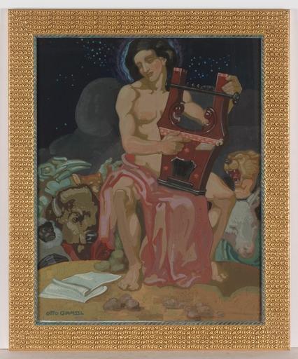 """Otto GRASSL - Gemälde - """"Orpheus"""", Tempera, 1910s"""