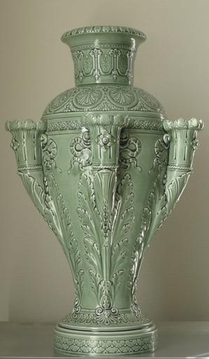 Alphonse SANDOZ - Ceramic - vase vert celadon