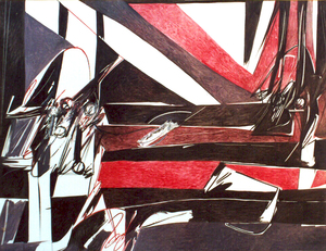 Piero RUGGERI - Painting - Grande studio per Napoleone
