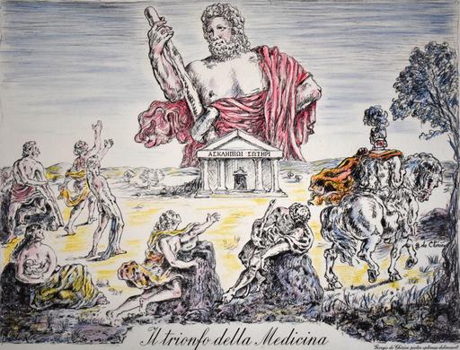 Giorgio DE CHIRICO - Stampa Multiplo - The Triumph of Medicine| Il trionfo della medicina