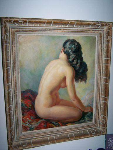 Albert GENTA - Peinture - Vrouw rugzicht
