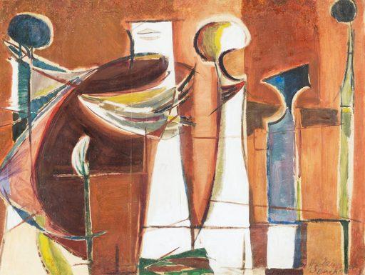 Humberto JAIMES SANCHEZ - Gemälde - Figuras rituales