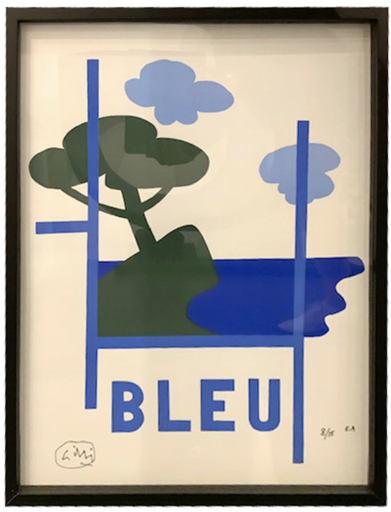 Claude GILLI - Estampe-Multiple - BLEU