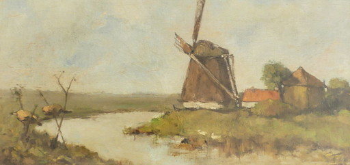 Johan Hendrik WEISSENBRUCH - Peinture - Moulin