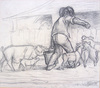 Jean François MILLET - Drawing-Watercolor - Untitled