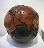 Bruno HELGEN - Sculpture-Volume - Globe Ø30cm 1000 holes graphite