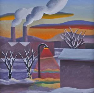 SALVO - Gemälde - Un tramonto ad Alba