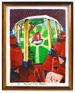 David HOCKNEY, View of Hotel Well III