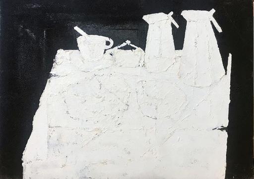 Xaime CABANAS - Pintura - Bodegon Blanco
