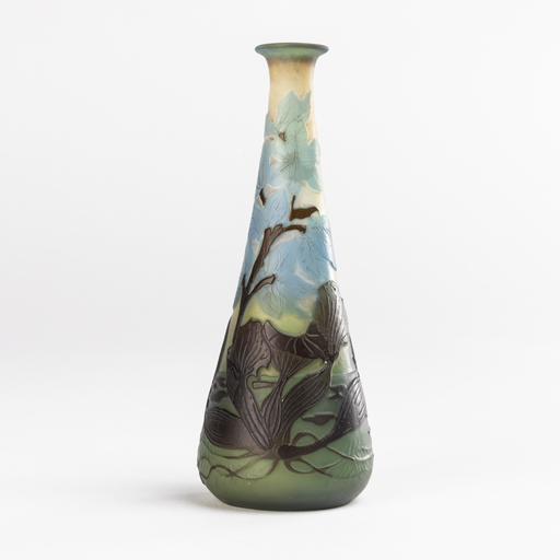 Émile GALLÉ - Emile Gallé (1846-1904), petit vase aux renoncules, XIXe