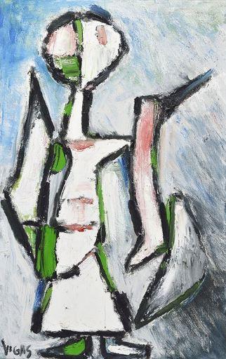 Oswaldo VIGAS - Pittura - La Dama de Bagdad II