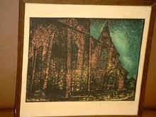 Arthur ILLIES - Grabado - Nächtliche Kirche