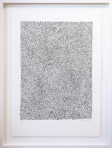 Günther UECKER - Print-Multiple - Permutation Schwarz-Weiß