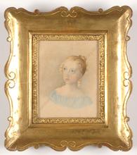 "Karl Josef Aloys AGRICOLA (Attrib.) - Miniature - ""Portrait of a Girl"", Large miniature, 1820/30"