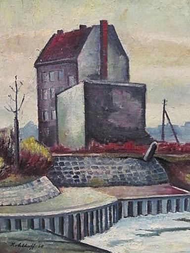 Walter KOHLHOFF - Pittura - Einsames Haus am Kanal ( Berlin )
