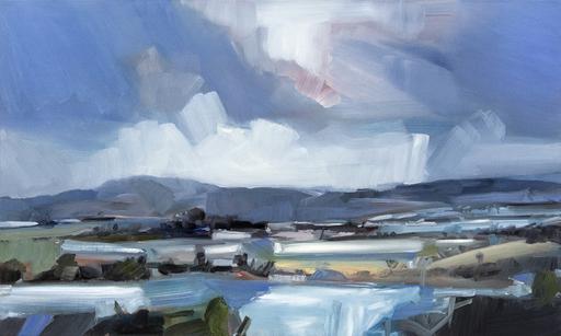 Simon ANDREW - Painting - Long Mountain Landscape