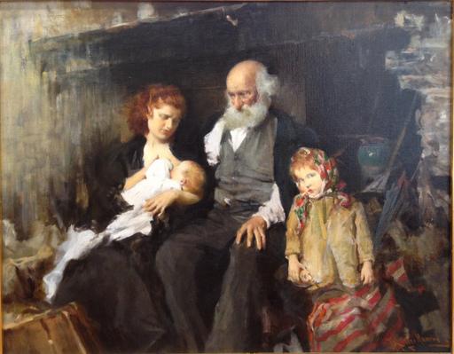 Francesco LONGO MANCINI - Peinture - Il nonno