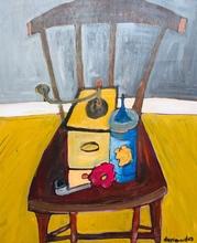 Christian DURIAUD - Pintura - Le pot bleu