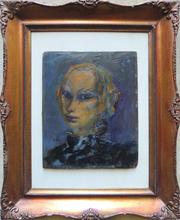 Mino MACCARI - Painting - Maschera veneziana