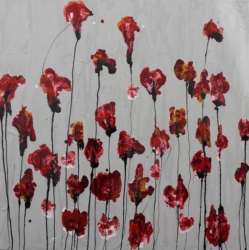 Donatella MARRAONI - Painting - Poppies battiti di cuore II