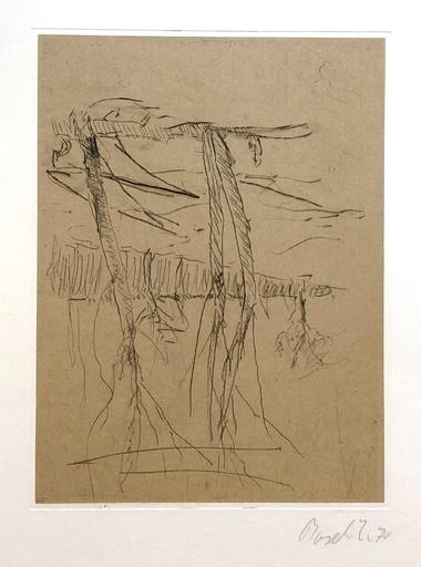 Georg BASELITZ - Grabado - Bäume (Trees)