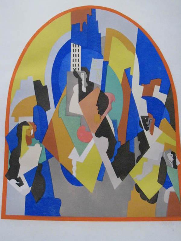 Albert GLEIZES - Drawing-Watercolor - GARE DE MOSCOU