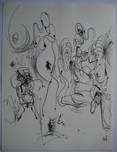 Raymond MORETTI - Print-Multiple - LITHOGRAPHIE SIGNÉE AU CRAYON NUM/185 HANDSIGNED LITHOGRAPH