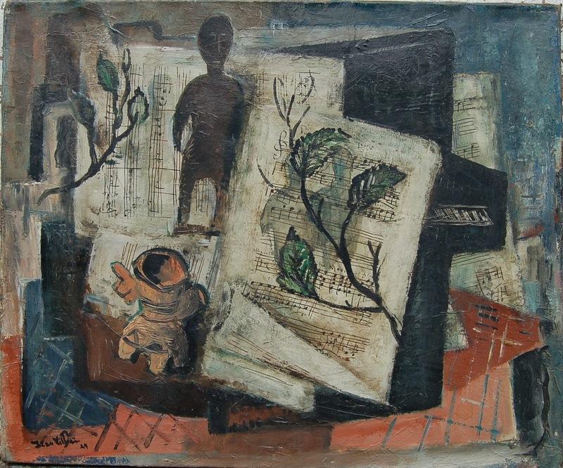 Jean VILLERI - Painting - Le piano