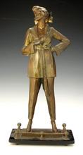 Bruno ZACH - Sculpture-Volume - Woman Smoking