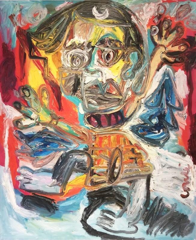 Thierry LOULÉ - Peinture - La petite descente aux enfers