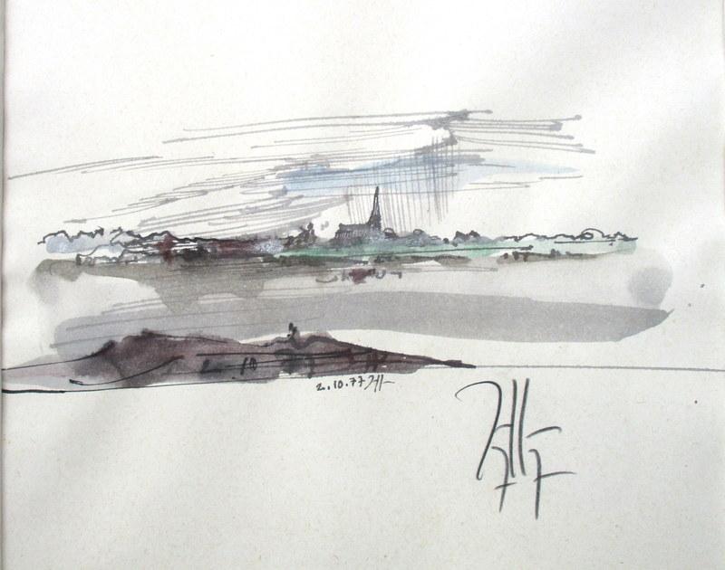 Horst JANSSEN - Dibujo Acuarela