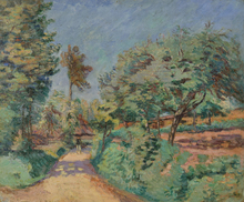 Armand GUILLAUMIN - Painting - Chemin en Île-de-France